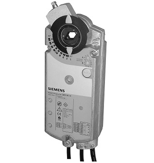 GBB335.1E Привод воздушной заслонки , поворотный, 25 Nm, 3-поз., AC 24V Siemens