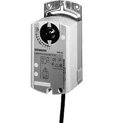 GDB131.1E Привод воздушной заслонки , поворотный, 5 Nm, 3-поз., AC 24V Siemens