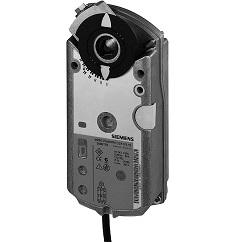 GEB136.1E Привод воздушной заслонки , поворотный, 15 Nm, 3-поз., AC 24V Siemens