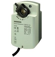 GQD161.1A Привод воздушной заслонки , поворотный, 2 Nm, пружинный возврат, DС 0…10 V, AC/DC 24 Siemens