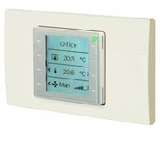 QMX3.P36G Комнатный модуль с сенсорными клавишами и горизонтальной рамкой Siemens