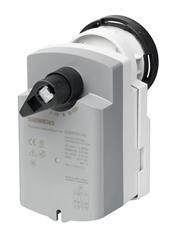 GQD131.9A Привод шарового клапана , поворотный, 2 Nm, пружинный возврат, 3-поз., AC/DC 24 Siemens