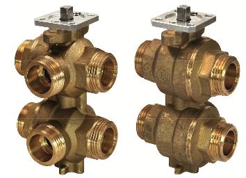 6-ходовой регулирующий шаровой клапан VWG41.20-1.0-1.6