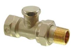 Клапан радиаторный прямой, PN10, DN10, KVS 0..1.8 ADN10