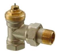Клапан радиаторный угловой, 2-ходовой седельный, DIN, 2-Х трубная система, PN10, DN10, KVS 0.09..0.63 VЕN110