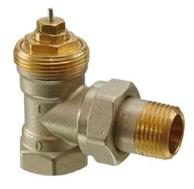 Клапан радиаторный угловой, 2-ходовой седельный, NF, 2-Х трубная система, PN10, DN15, KVS 0.10..0.89 VЕN215