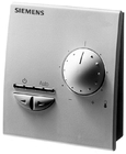 QAX33.1 Комнатный модуль с датчиком, задатчиком уставки и переключателем режимов работы и выбором скоростей вентилятора; интерфейс PPS2