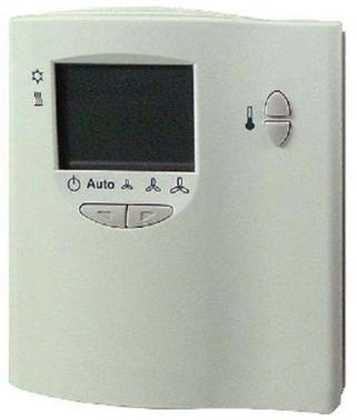 QAX34.3 Комнатный модуль с датчиком, задатчиком уставки, ЖК-дисплеем и переключателем режимов; интерфейс PPS2