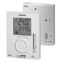 RDJ10RF/SET Контроллер температуры в помещении (приёмник + передатчик) с 24-часовым таймером, большим дисплеем и задатчиком уставки