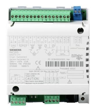 RXC20.5/00020 Комнатные контроллеры для фэнкойлов с 1-скоростными вентиляторами или охлаждающих потолков/радиаторов с базовым приложением OOO20