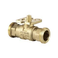 VAG60.20-17 Клапан шаровой 2-ходовой, внешняя резьба