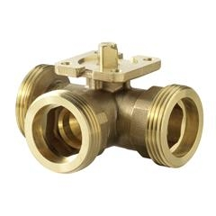 VBG60.15-8T Переключающий шаровой клапан, внешняя резьба, PN 40, DN 15, kvs 8. Siemens
