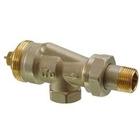 VUN215 Реверсивные угловые радиаторные клапаны, 2-х трубная система, PN10, DN15, kvs 0.13..0.77